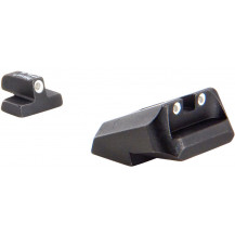 Trijicon SA35 Novak .40 / .45 / 10mm 3 Dot Green Front & Rear Night Sight Set