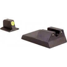 Trijicon RA114Y Ruger SR9, SR40, SR40c HD Night Sight Set (Yellow Front Outline)