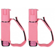 Sabre Runner 22mL pepper spray with hand band (2 x Pack) - Pink
