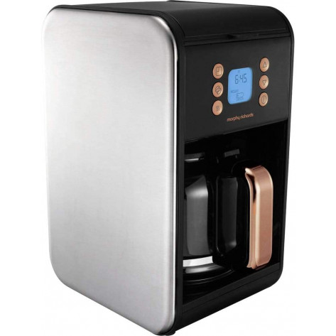Morphy Richards Accents 162011 Filter Coffee Machine - Black & Rose Gold