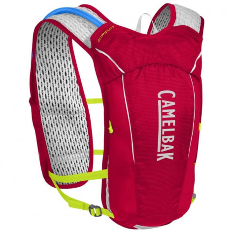 CamelBak Circuit Vest 1.5L Hydration Pack- Crimson Red/Lime Punch
