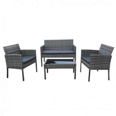 Seagull 4 – Piece Rattan Sofa Set