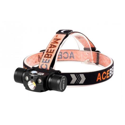 Acebeam H30 Headlamp - 4000 Lumens, Red + UV