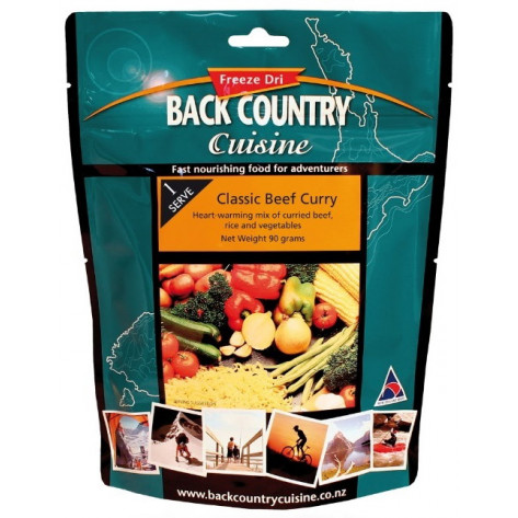 Back Country Cuisine Classic Beef Curry Freeze Dried Meal