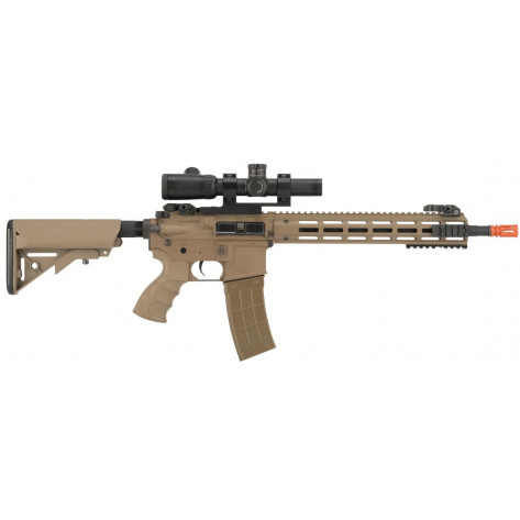 "Tippmann Recon AEG Carbine Air Rifle - 14.5"", Tan - right side"