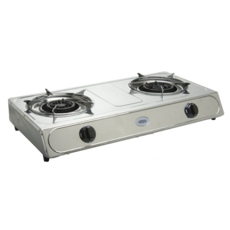 Cadac Stainless Steel Stove With Hose and Regulator - 2 Plate