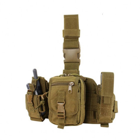 Condor Utility Leg Rig With Three Detachable Pouches - Coyote Brown
