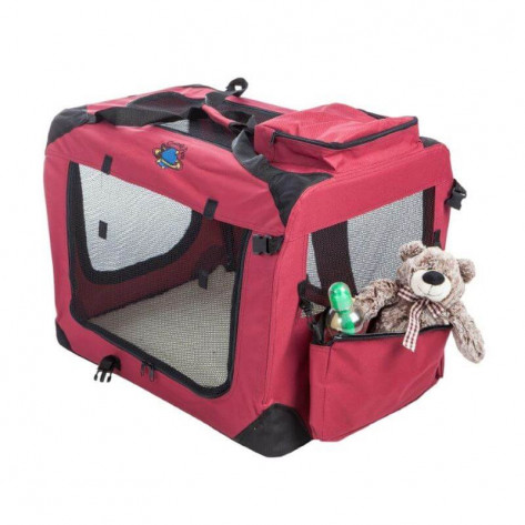 Cosmic Pets Collapsible Pet Carrier - Medium - Maroon (Toys NOT Included)