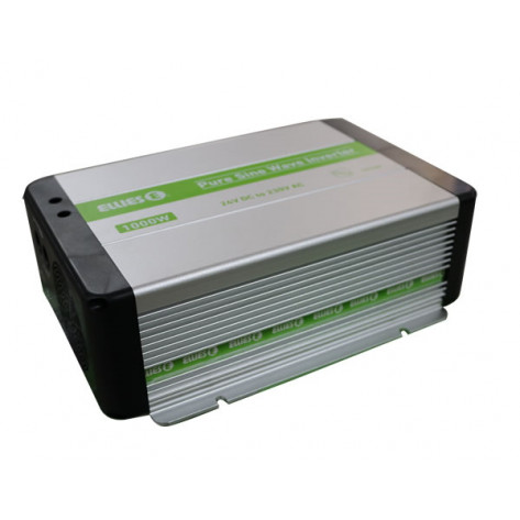 Ellies 1000W Pure Sine Wave/ Inverter - 24VDC TO 230VAC 50HZ, Blk
