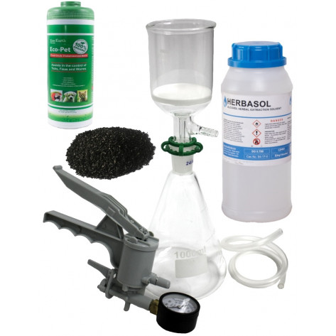 Extraction Kit Combo 1 - Vacuum Filtration Kit 1L + Herbasol 1L + Activated Carbon 450g + Diatomaceous Earth 250g