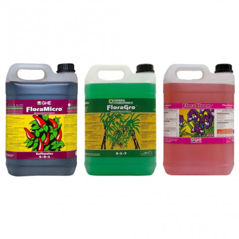 General Hydroponics Flora Series Nutrient Kit (3x 5L) - Soft Water