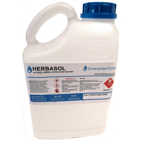Herbasol Extraction Alcohol - Denatured 97.9% Purity, 5L