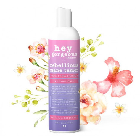 Hey Gorgeous Rebellious Mane Tamer Shampoo and Conditioner - 250ml