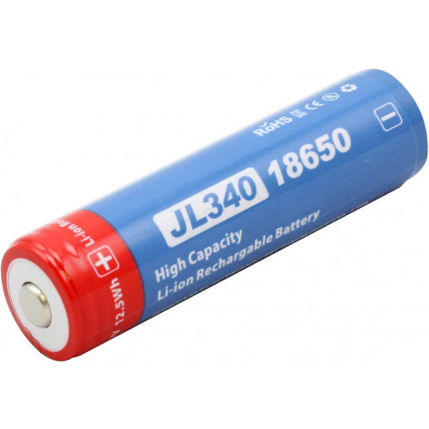 Jetbeam JL340 18650 Protected Lithium Ion Button Top Battery - 3400mAh 3.7V