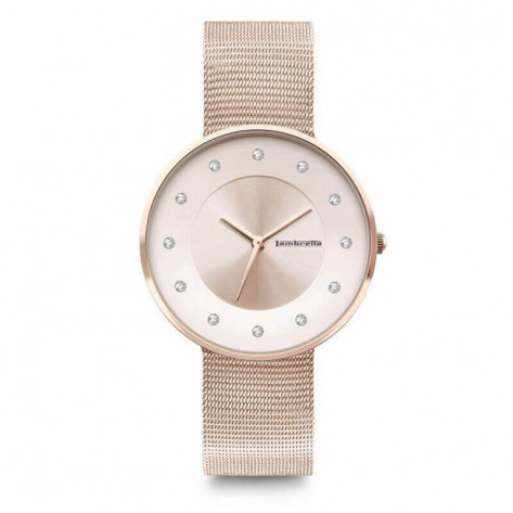 Lambretta Cielo 34 Mesh Women's Watch - Swarovski Stones/Rose Gold