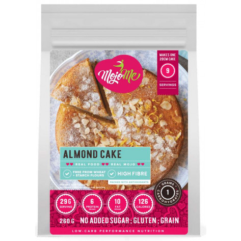 MojoMe Low-Carb Almond Cake PreMix - 300g, 6 Pack - Front View (Not Actual Quantity Shown)