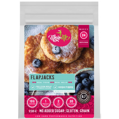 MojoMe Low-Carb Flapjacks PreMix - 230g, 6 Pack - Front View