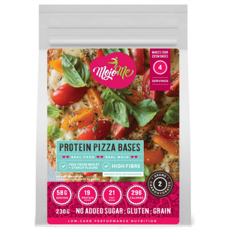 MojoMe Low-Carb Protein Pizza Bases PreMix - 230g, 6 Pack - Front View