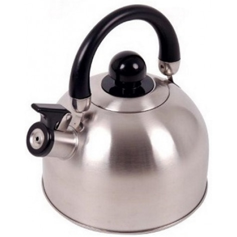 Oztrail 2.5L Whistling Kettle - Silver