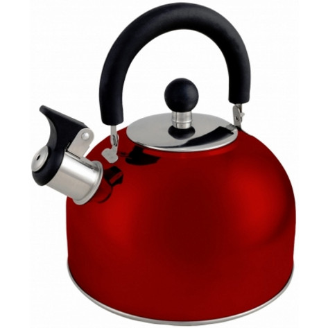 Oztrail 2.5L Whistling Kettle - Red