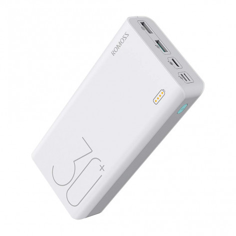 Romoss Sense8+ Type-C Power Bank – 30000mAh, White