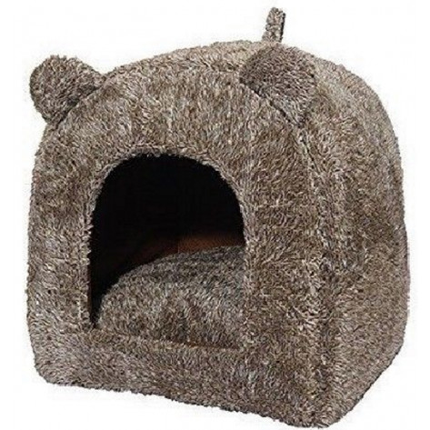 Rosewood Pet Bedding Teddy Bear Cat Bed - Brown