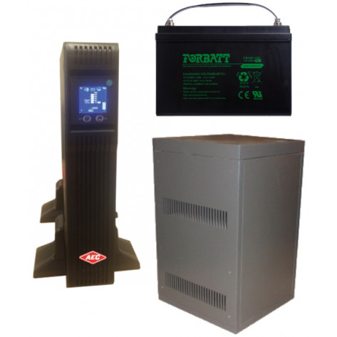 PHD Powerhouse ST3030RT-L Double Conversion Pure Sinewave UPS Kit - 3kVA, 72V