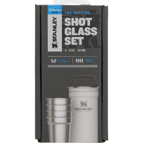 Stanley Adventure Stainless Steel Shot Glass Set - 2oz, Polar White