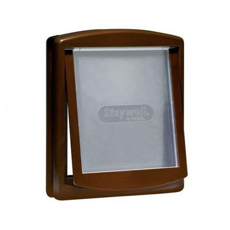 Original 2-Way Small Pet Door (Brown)