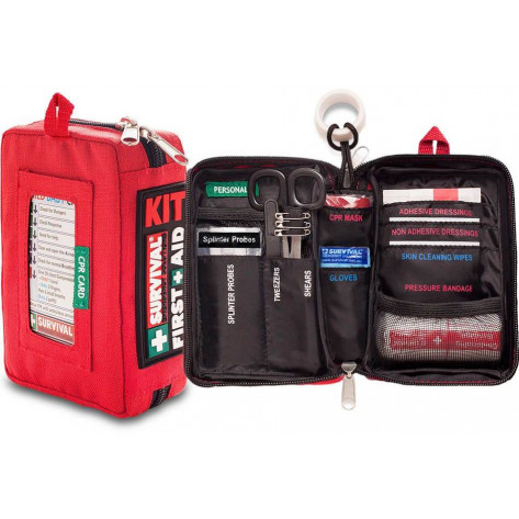 Survival Compact First Aid Kit - Inner & Outer View