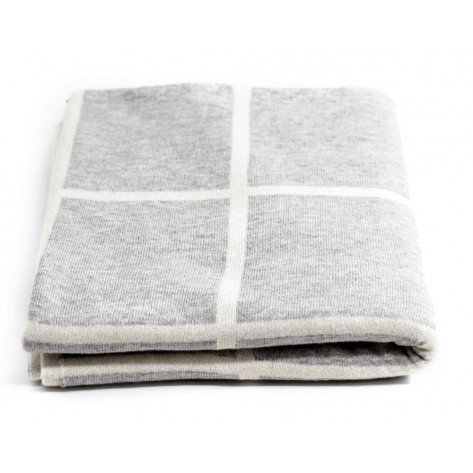 Tobbie & Co Premium Organic Cotton Blanket - Light Grey