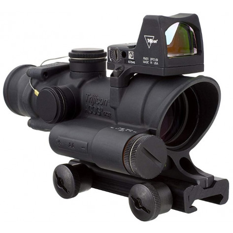 Trijicon ACOG 4x32 Scope w - 3.25 MOA RMR Type 2 Red Dot Sight - LED Illuminated, .223 Red Crosshair Reticle
