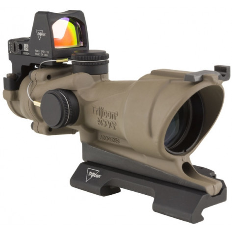 Trijicon ACOG 6x48  ECOS Scope - Center Illuminated, Amber Crosshair Reticle, Flat Dark Earth