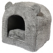 Rosewood 40 Winks Teddy Bear Cat Bed - Grey