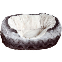 Rosewood Pet Bedding Snuggle Oval Plush Pet Bed - Large