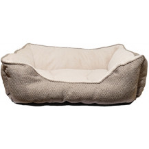 Rosewood 40 Winks Luxury Square Pet Bed - Medium, Truffle
