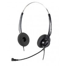 Calltel H550 Stereo-Ear Noise-Cancelling Headset - Quick Disconnect, USB Sound Card