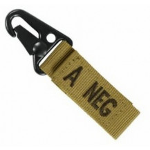 Condor Blood Type Key Chain - A Negative, Coyote Brown