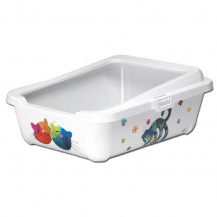 McMac Hercules Cat Litter Tray and Rim - Friends Forever