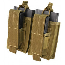 Condor Double Kangaroo Pistol/M14 Mag Pouch - Coyote Brown