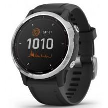 Garmin Fenix 6S Solar Smartwatch - Silver w/Black Band