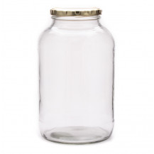 Catering Jar with Gold Screw-on Lid - 2L