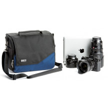 Think Tank Mirrorless Mover 30i Shoulder Bag - Dark Blue front view - Camera Equipment NOT Included