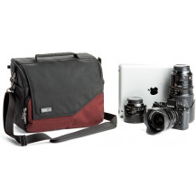 Think Tank Mirrorless Mover 30i Shoulder Bag - Deep Red front view - Camera Equipment NOT Included
