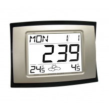 La Crosse Jumbo Wall Clock with Weather Forecast - WS8167