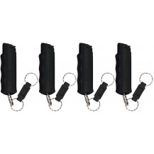 Sabre Hard Case 16.2 mL pepper spray GEL with quick release (4 x Pack) - Black