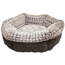 Rosewood 40 Winks Tweed/Plush Round Cat Bed