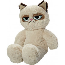Rosewood Grumpy Cat Floppy Plush Pet Toy
