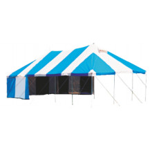 Tentco PVC Marquee Tent - 5m x 10m, Blue and White