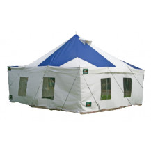 Tentco PVC Marquee Tent - 5m x 5m, Blue and White